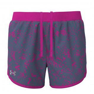 Short femme Under Armour Fly-By 2.0 imprimé