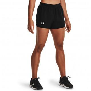 Short femme Under Armour Fly By 2.0 2-in-1