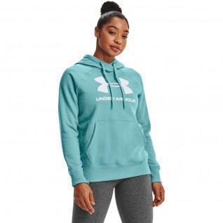 Sweat à capuche femme Under Armour avec logo Rival Fleece