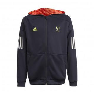 Sweatshirt zippé à capuche enfant adidas Messi Football-Inspired