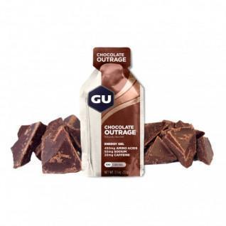 Lot de 24 Gels Gu Energy chocolat intense