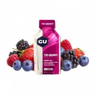 Lot de 24 Gels Gu Energy 3 fruits rouges