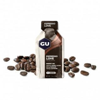 Lot de 24 Gels caféiné Gu Energy espresso