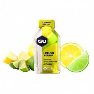 Lot de 24 Gels Gu Energy citron intense sans caféine