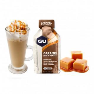 Lot de 24 Gels Gu Energy caramel macchiato caféiné