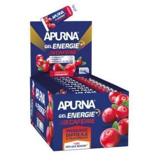 Lot de 25 gels Apurna Energie caféine cranberry - 35g
