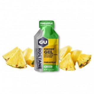 Lot de 24 Gels Roctane Gu Energy ananas sans caféine